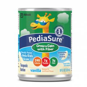 Abbott PediaSure Grow & Gain with Fiber Vanilla 8 oz (Pack of 24)