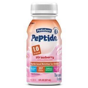 Abbott PediaSure Peptide 1 Calorie Strawberry 8 oz (Pack of 24)
