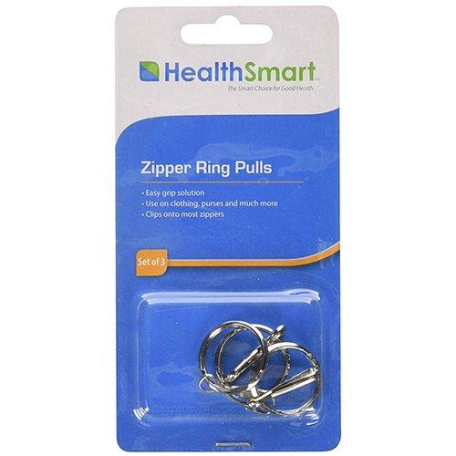 HealthSmart Zipper Ring Pulls Pack de 3