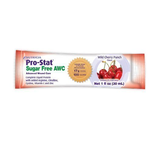 Medical Nutrition Pro-Stat Sugar Free AWC Liquid Protein - Wild Cherry 1 oz  (Pack of 96)