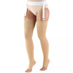 TruForm Compression Stockings 20-30 mmHg Thigh High Open Toe Large For Men And Women