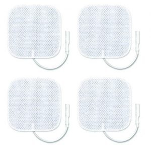 Zewa Deluxe TENS Reusable Electrodes 2 x 2 Inch (Pack of 4)