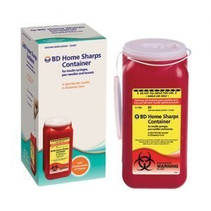 BD Home Sharps Container Red 1.4 Quart