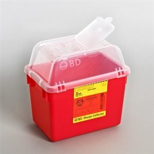 BD Multi-Use Nestable Sharps Container 8 Quart Red
