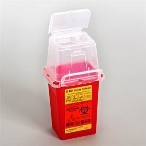 BD Phlebotomy Sharps Container 1.5 Quart Red