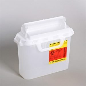 BD Recykleen Patient Room Sharps Container 5.4 Quart Clear