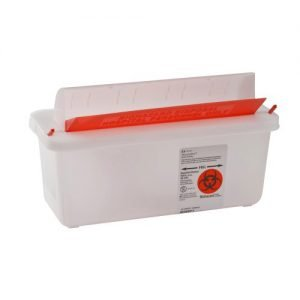 Cardinal SharpSafety Sharps Containers with Mailbox Style Lid 2 Quart
