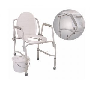 Commode - Steel Drop Arm by Essential Medical