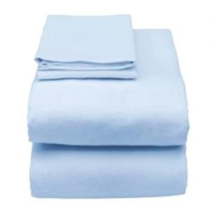 Essential Hospital Bed Sheet Sets in Blue and Burgundy