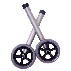 Essential Universal Walker Wheels 5 inch Fixed