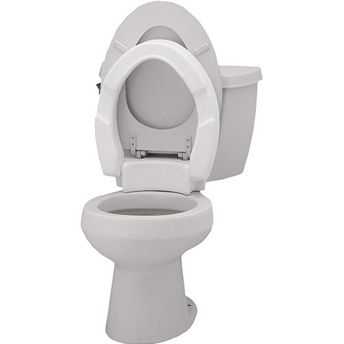 Stupendous Nova Elongated Hinged Toilet Seat Riser Riteway Medical Gamerscity Chair Design For Home Gamerscityorg