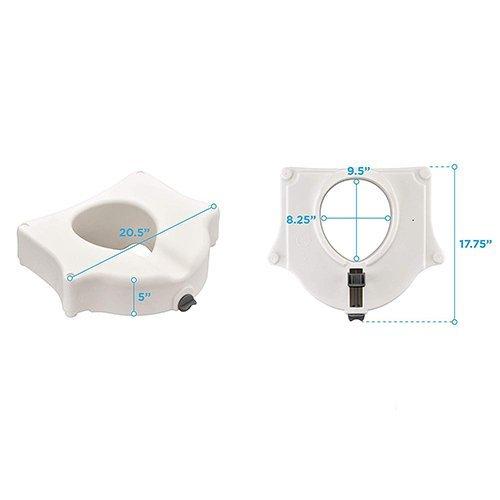 Marvelous Nova Raised Toilet Seat On Riteway Medical Supplies Cjindustries Chair Design For Home Cjindustriesco