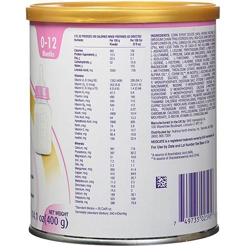 Nutricia Infant Neocate DHA and ARA 14