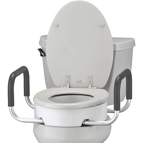 Buy Nova Elongated Toilet Seat Riser with Arms   Toilet Accessories