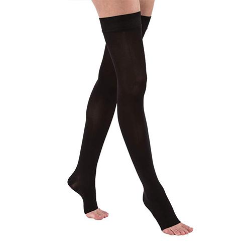 Medium Jobst Opaque Thigh High 15-20 Mmhg Moderate Support Hose
